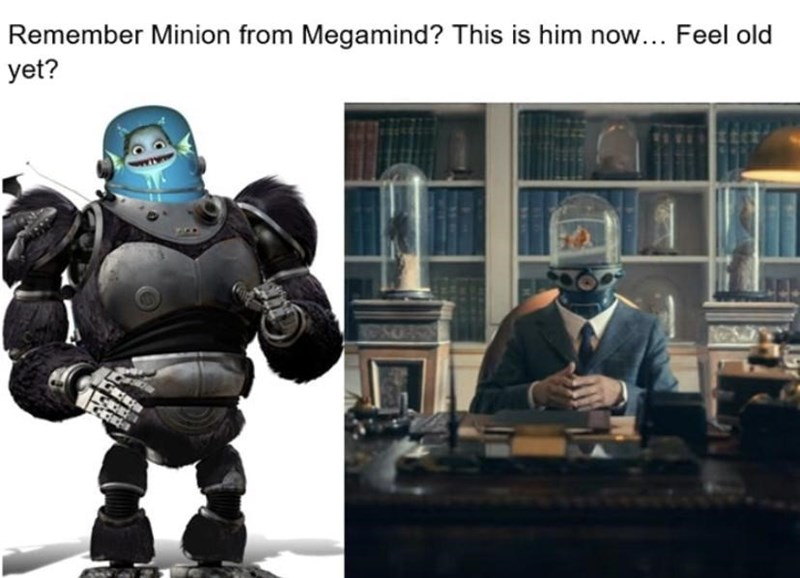 Fictional character - Remember Minion from Megamind? This is him now... Feel old yet?