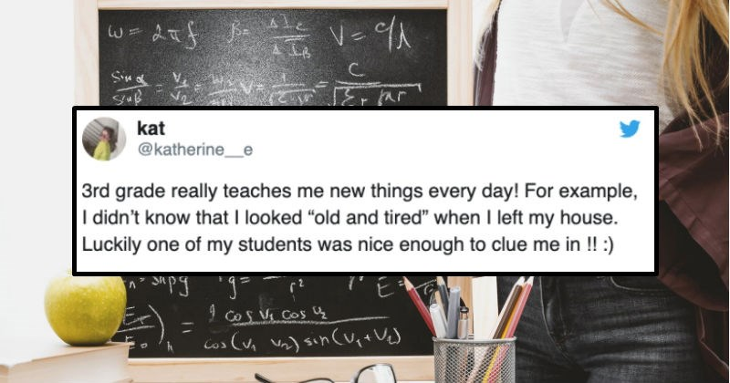 A collection of funny tweets about being a teacher that capture the chaotic nature of the job.