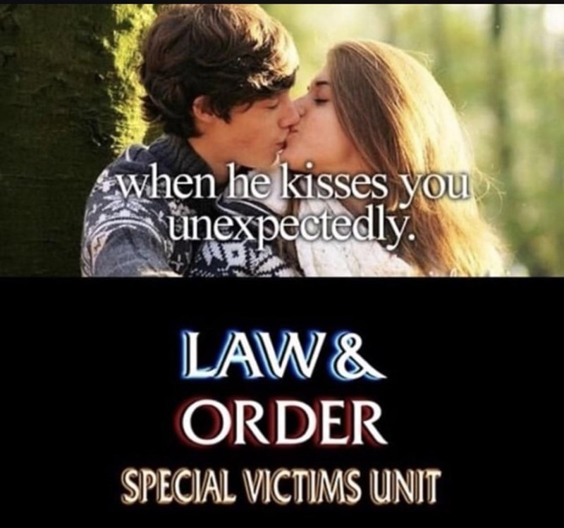 law and order meme - Romance - when he kisses you unexpectedly. LAW& ORDER SPECIAL VICTIMS UNIT