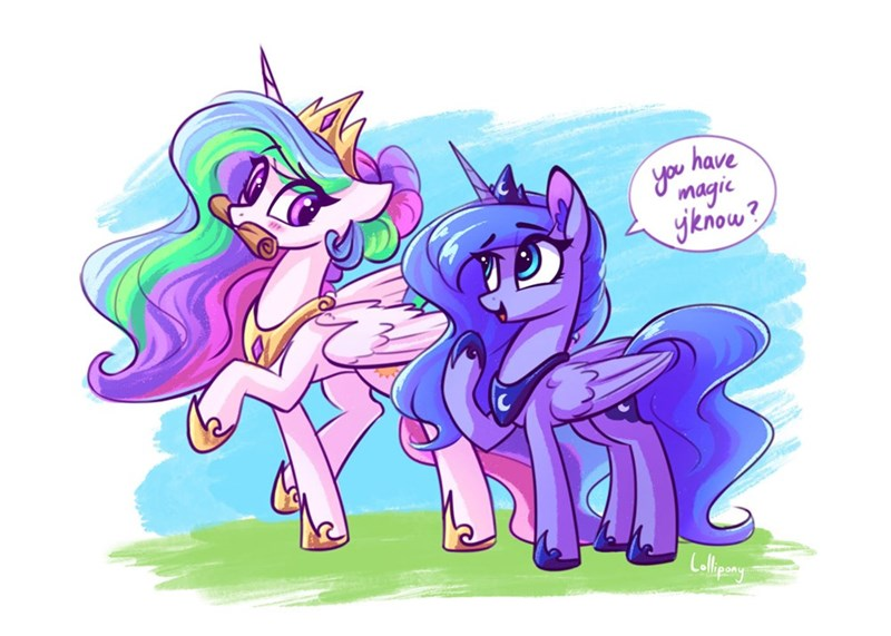 lollipony princess luna princess celestia - 9534969600