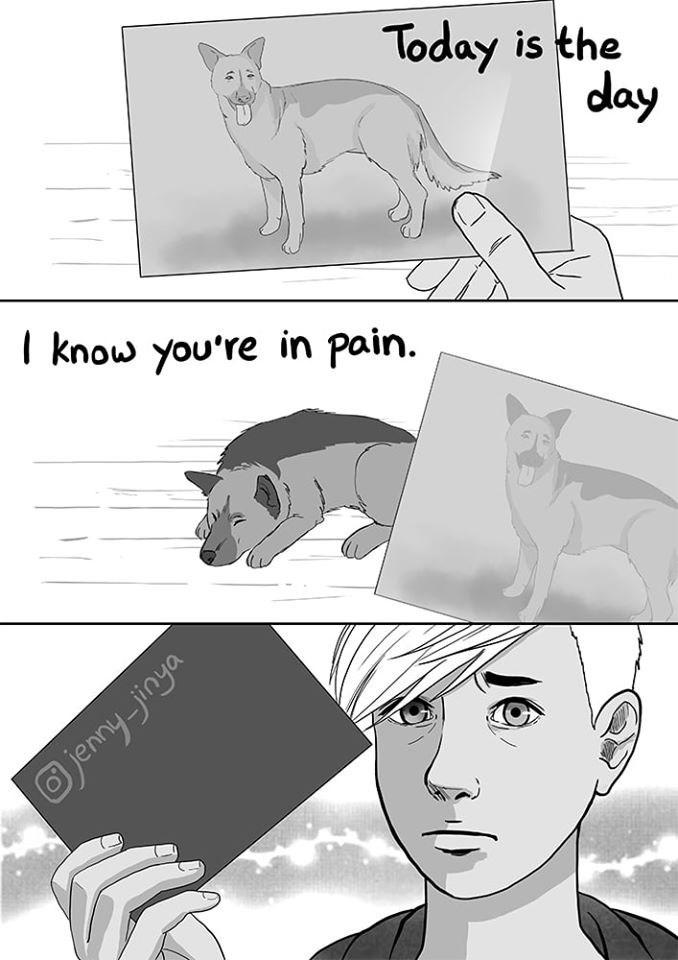 Cartoon - Today is the day I know you're in pain. Ojennyjinya