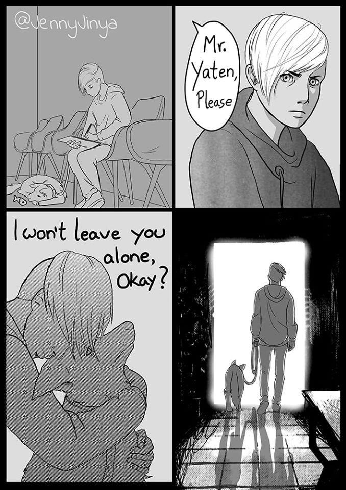 Cartoon - @uennyJinya Mr. Yaten, Please lwon't leave you alone, Okay?