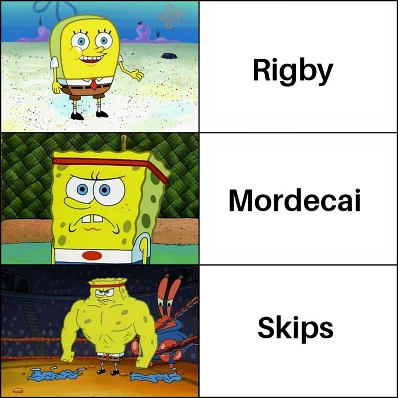 Cartoon - Rigby Mordecai Skips ేదవో
