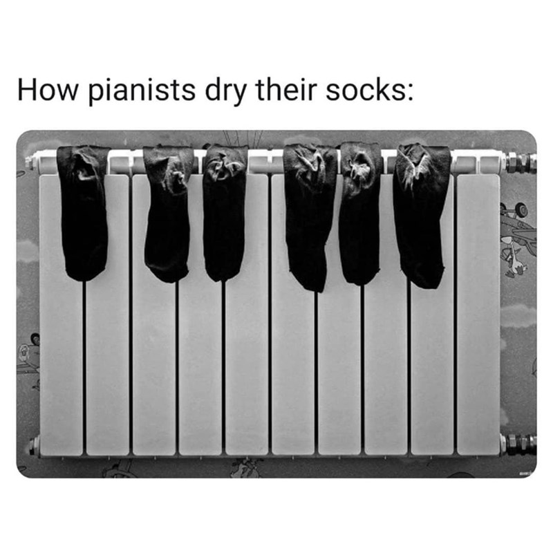 Technology - How pianists dry their socks: