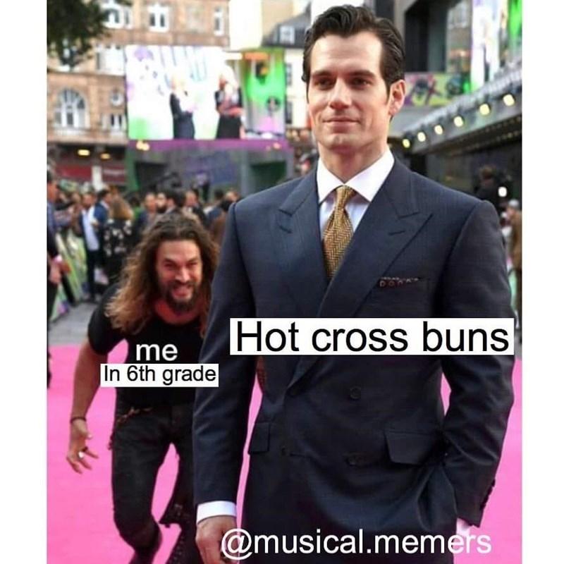 Suit - Hot cross buns me In 6th grade @musical.memers