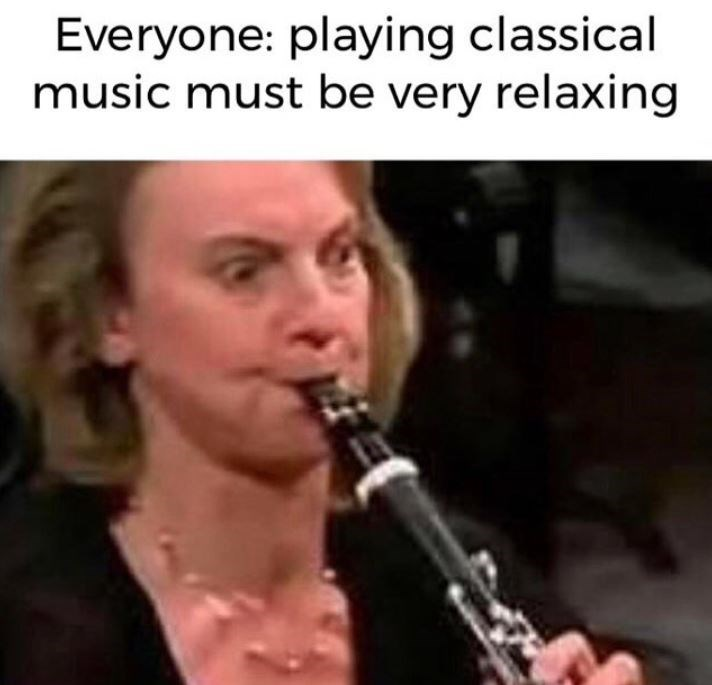Music - Everyone: playing classical music must be very relaxing