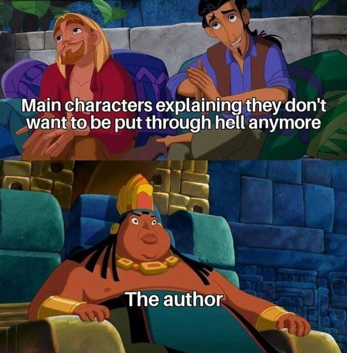 Animated cartoon - Main characters explaining they don't want to be put through hell anymore The author