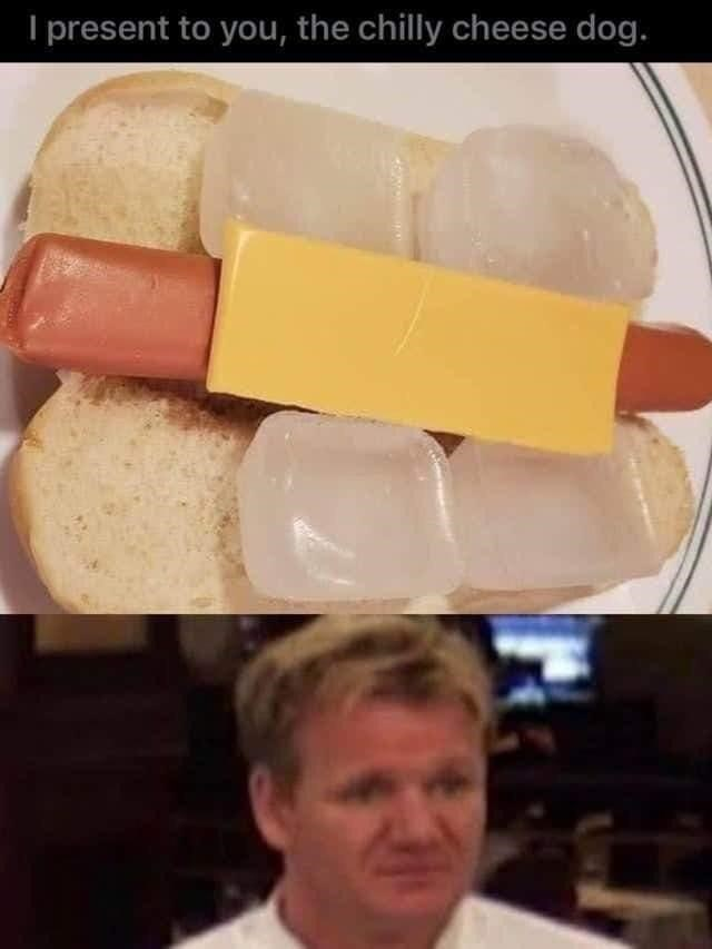 Food - I present to you, the chilly cheese dog.