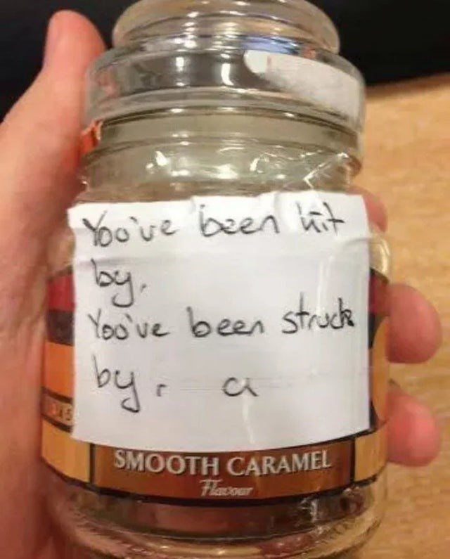 Mason jar - Yoo've been tait by. You've been struck by. SMOOTH CARAMEL Flacour