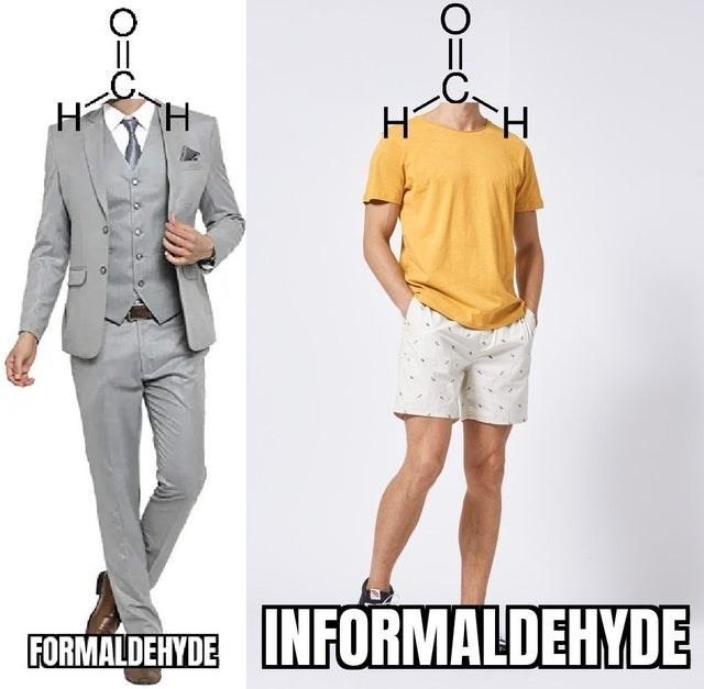 Clothing - H TH FORMALDEHYDE INFORMALDEHYDE O=O