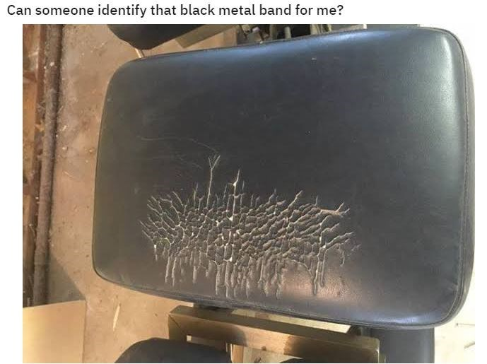 Technology - Can someone identify that black metal band for me?
