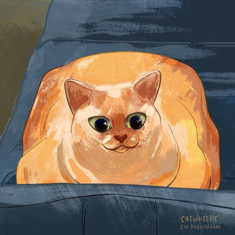 Cat - CATWHEEZIE E.M. PAQUIN2020