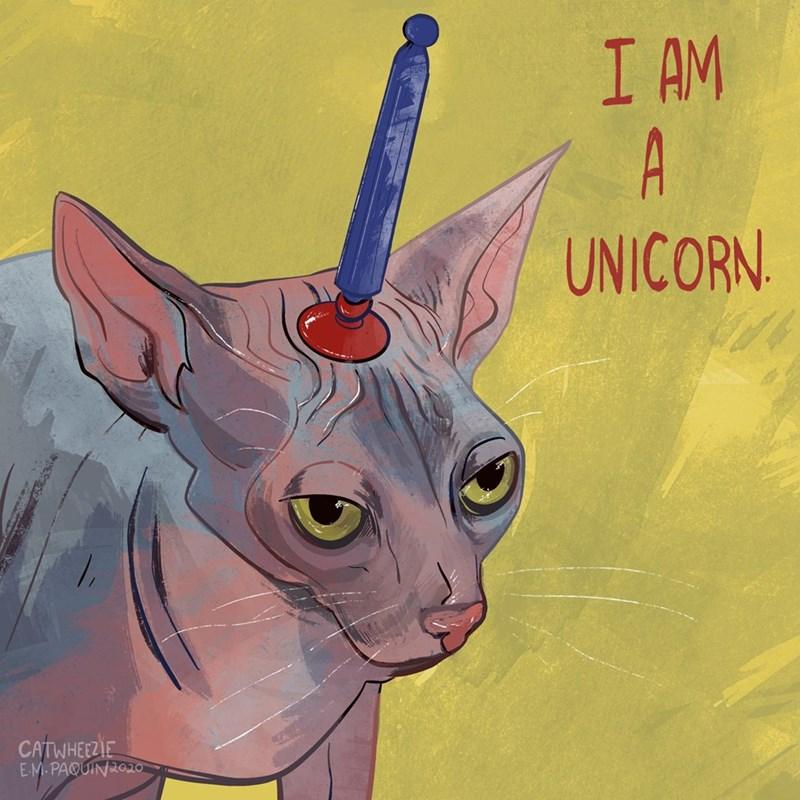 Cat - I AM A UNICORN. CATWHEEZIE EM.PAQUIN2020