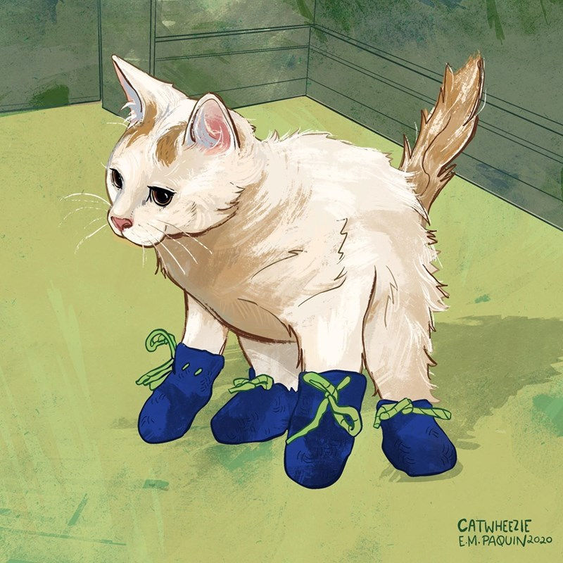 Cat - CATWHEEZIE E-M. PAQUIN2020