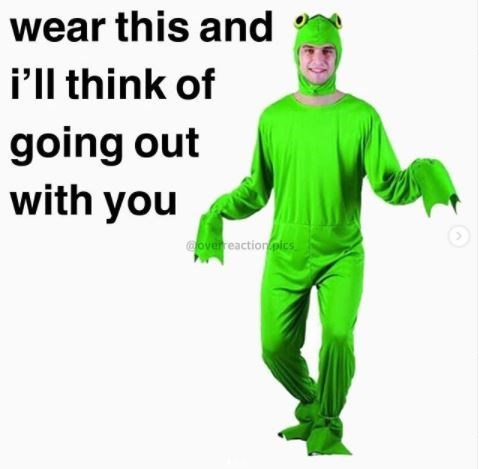 Green - wear this and i'll think of going out with you Coverreaction pics