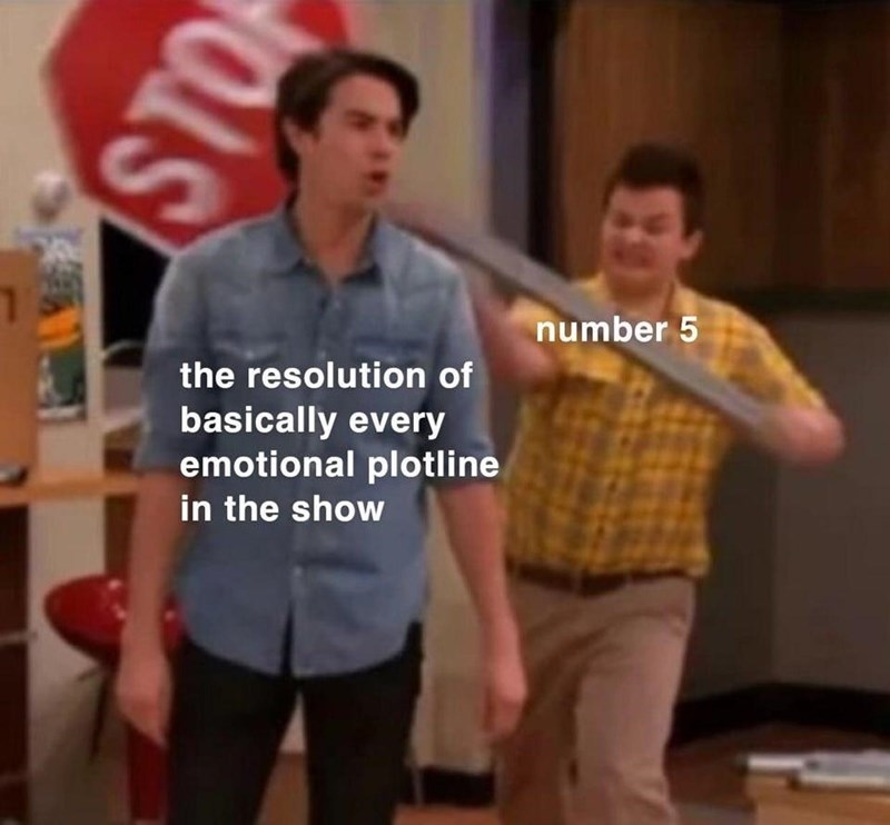 Shoulder - number 5 the resolution of basically every emotional plotline in the show STO