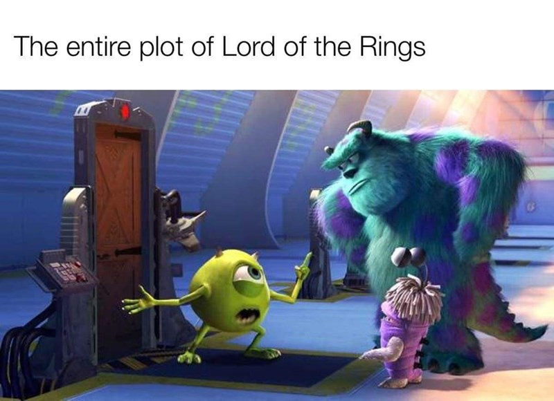 Cartoon - The entire plot of Lord of the Rings