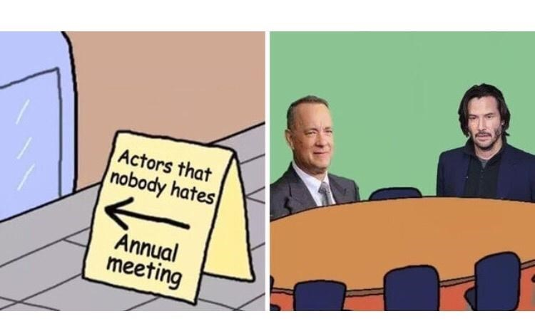 Cartoon - Actors that nobody hates Annual meeting