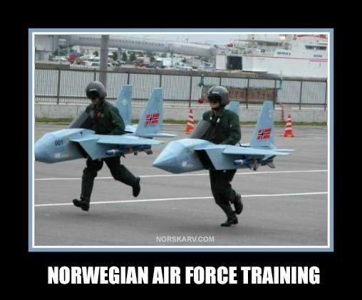 Photo caption - NORSKARV.COM NORWEGIAN AIR FORCE TRAINING