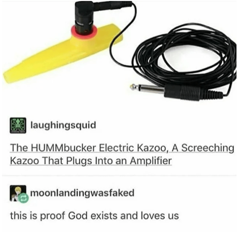 Technology - laughingsquid The HUMMbucker Electric Kazoo, A Screeching Kazoo That Plugs Into an Amplifier moonlandingwasfaked this is proof God exists and loves us