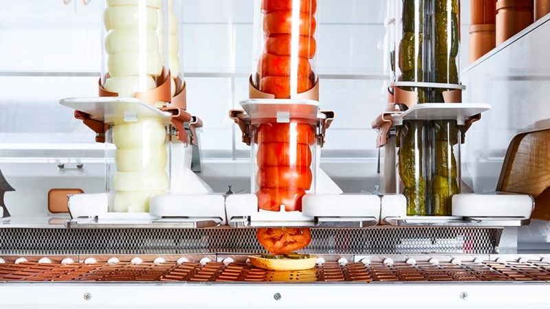 burger robot makes really good burgers