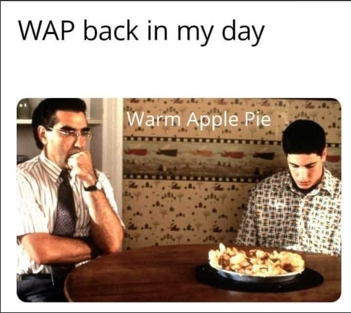 Junk food - WAP back in my day Warm Apple Pie