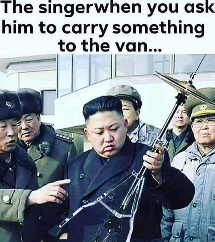Movie - The singerwhen you ask him to carry something to the van...