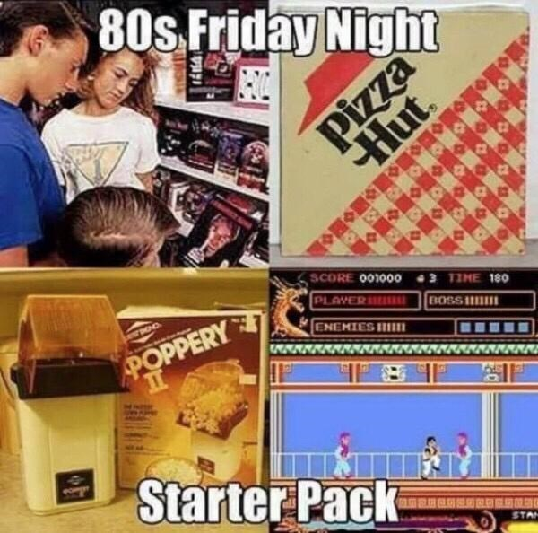 Games - 80s Friday Night Pizza Hut. SCORE 001000o 43 TIME 180 PLAYER ll ON OOO POPPERY II ENEMIES HI BOSS I Starter Pack 《 期 STA