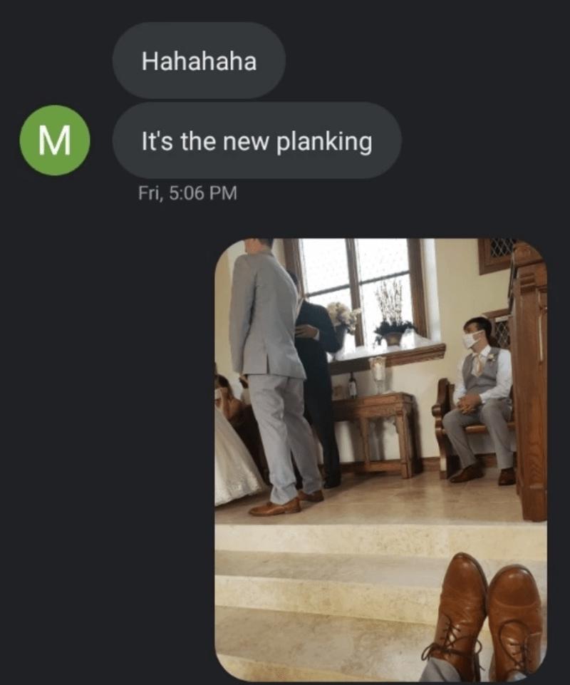 Text - Hahahaha M It's the new planking Fri, 5:06 PM