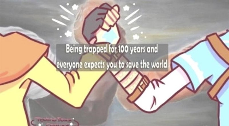 Cartoon - Being trapped for 100 years and everyone expects you to save the world