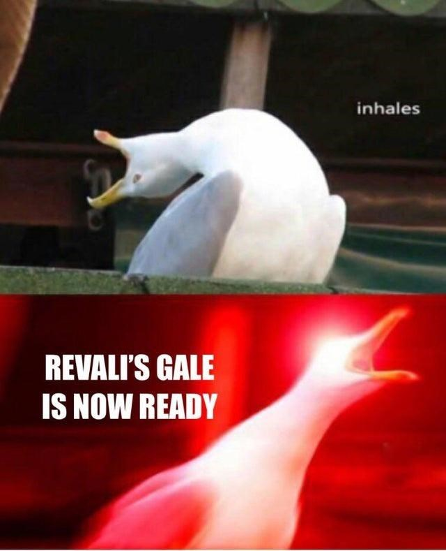 Joint - inhales REVALI'S GALE IS NOW READY