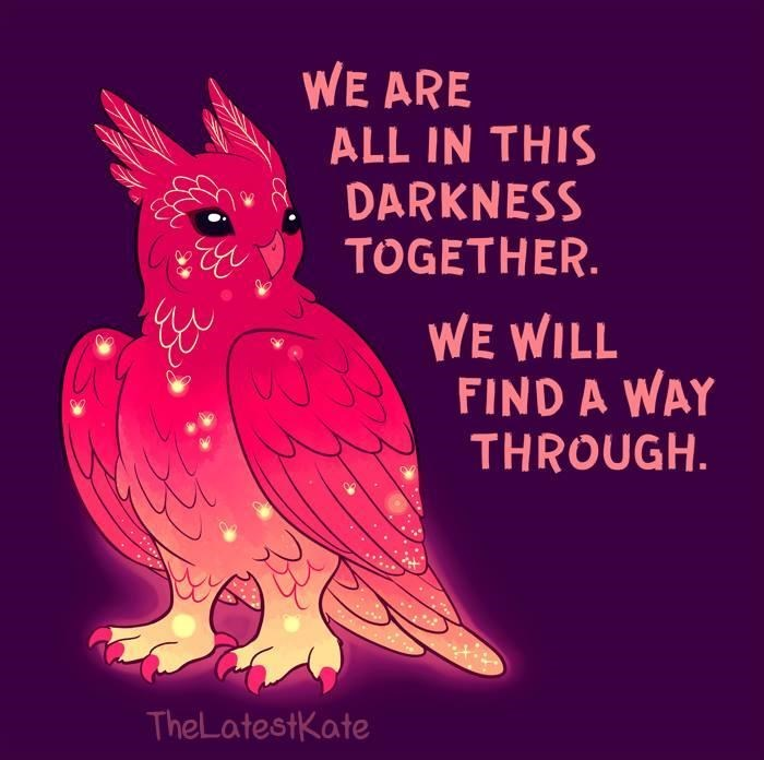 Bird - WE ARE ALL IN THIS DARKNESS TOGETHER. WE WILL FIND A WAY THROUGH. TheLatestKate