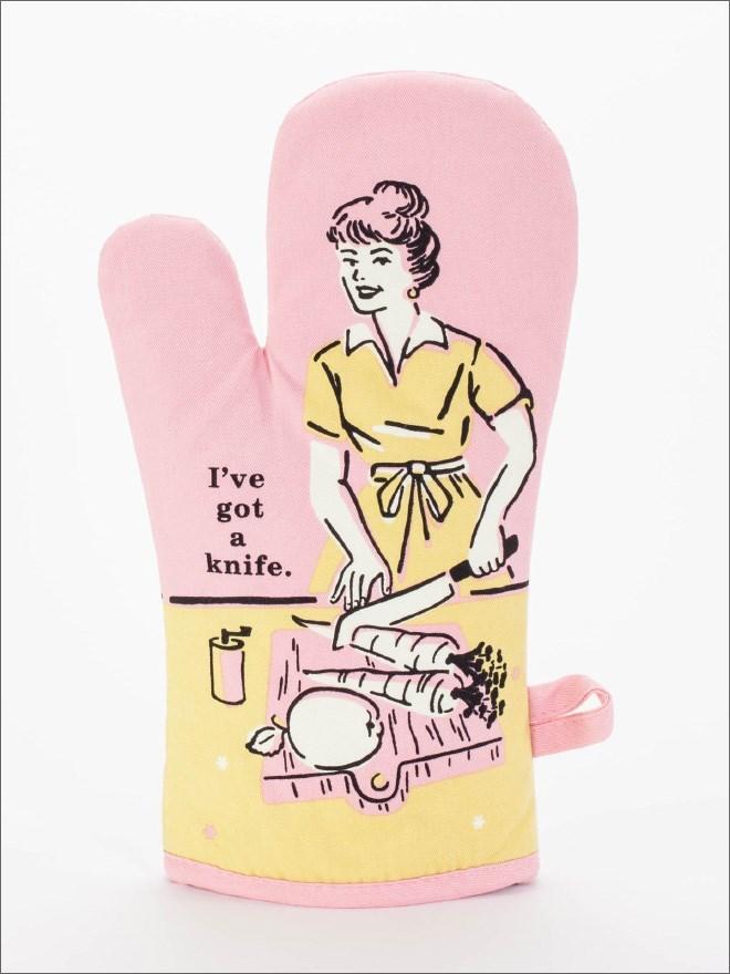 Pink - I've got a knife.