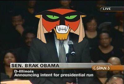 Photo caption - LIVE SEN. BRAK OBAMA CSPAN 3 D-IIlinois Announcing intent for presidential run