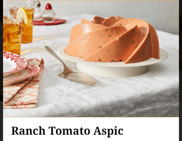 Food - Ranch Tomato Aspic