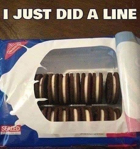 I JUST DID A LINE (NABISCO SEALED E ete