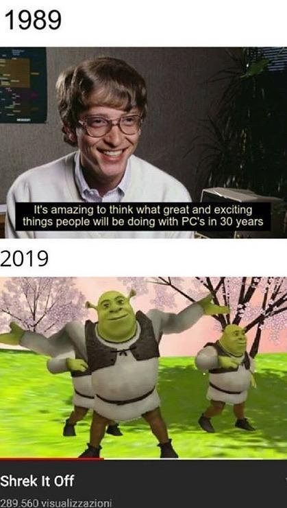 Cartoon - 1989 It's amazing to think what great and exciting things people will be doing with PC's in 30 years 2019 Shrek It Off 289.560 visualizzazioni