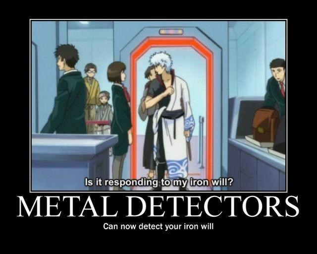 Poster - Is it responding to my iron will? METAL DETECTORS Can now detect your iron will