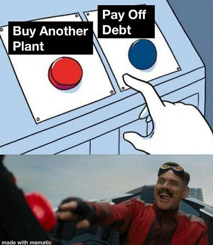 Games - Pay Off Buy AnotherDebt Plant made with mematic