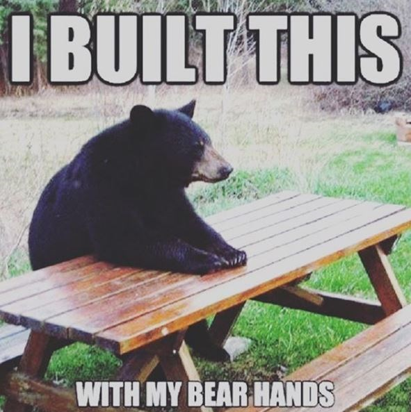 Bear - I BUILT THIS WITH MY BEAR HANDS
