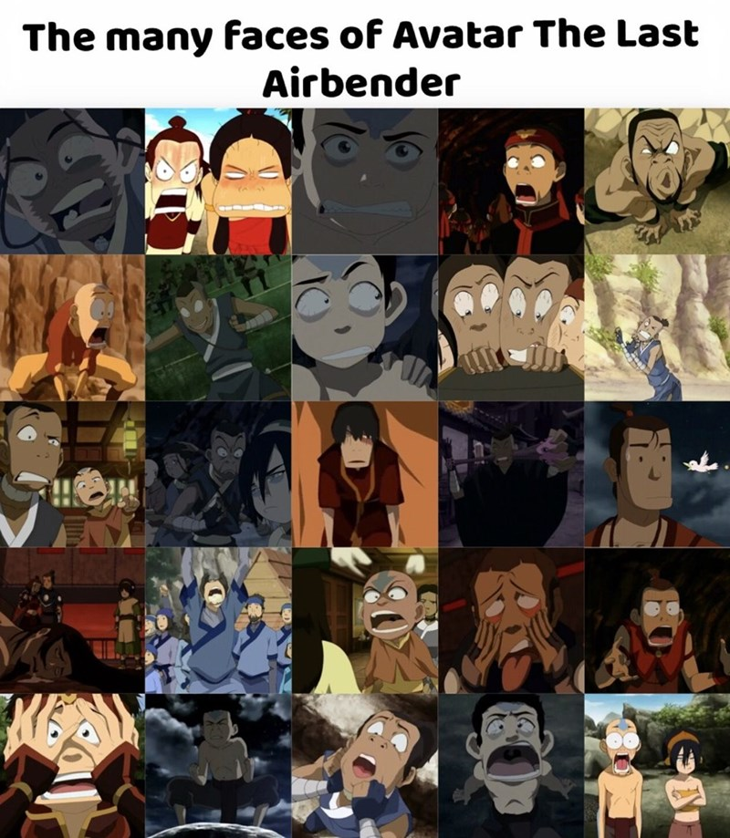 Collage - The many faces of Avatar The Last Airbender
