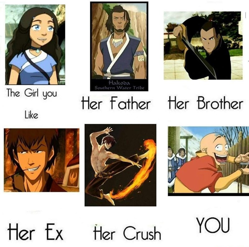 Cartoon - Hakoda Southern Water Tribe The Girl you Her Father Her Brother Like Her Ex Her Crush YOU
