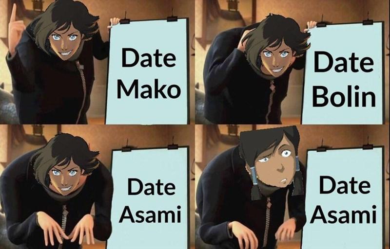Cartoon - Date Date Mako Bolin Date Date Asami Asami