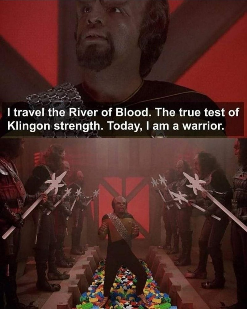 Poster - I travel the River of Blood. The true test of Klingon strength. Today, I am a warrior.