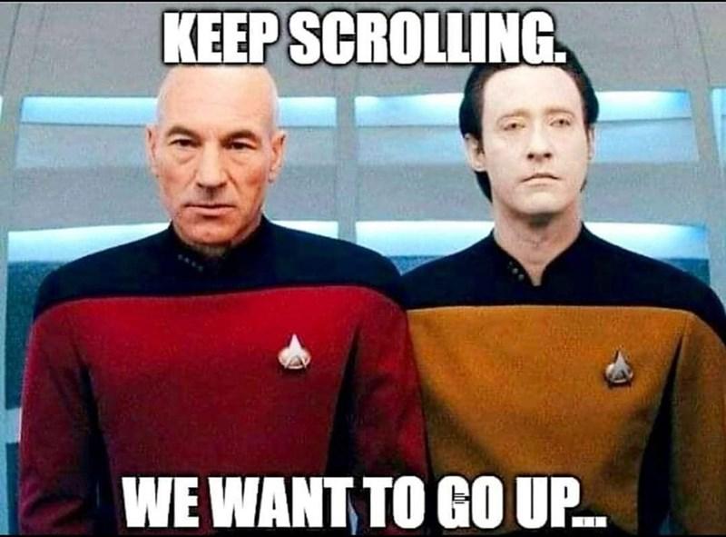 Photo caption - KEEP SCROLLING. WE WANT TO GO U.