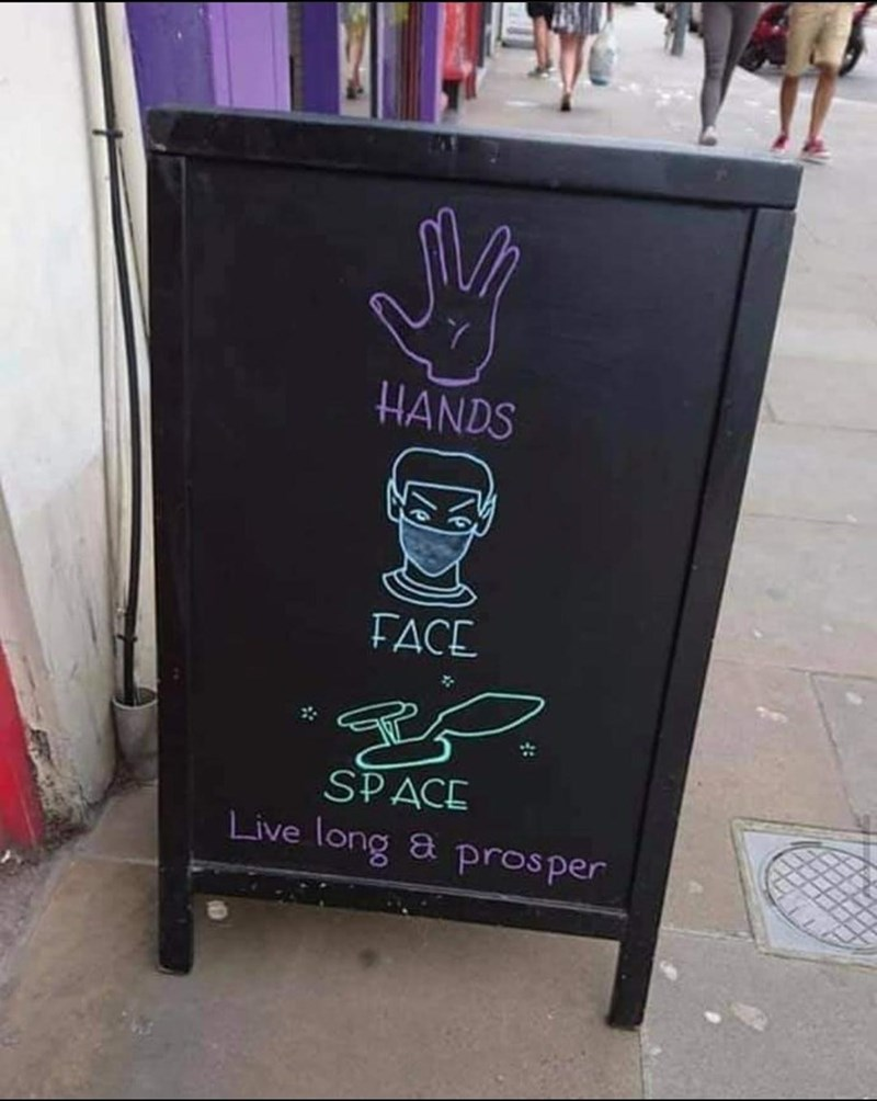 Banner - HANDS FACE SPACE Live long & prosper