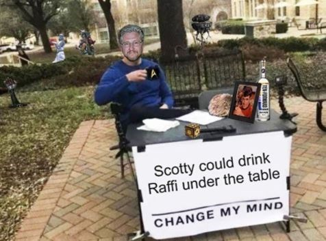 Community - Scotty could drink Raffi under the table CHANGE MY MIND
