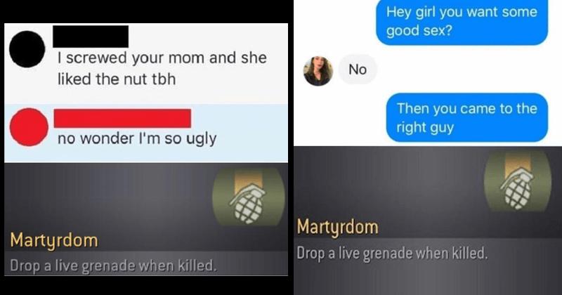 Funny martyrdom memes, self-owns, self-roasting, roasting, reddit, call of duty