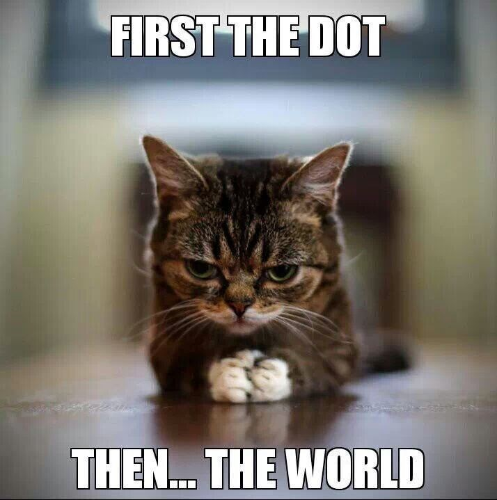 Cat - FIRST THE DOT THEN. THE WORLD