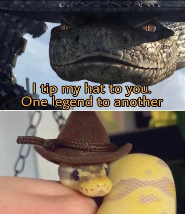 Reptile - I tip my hat to you. One legend to another